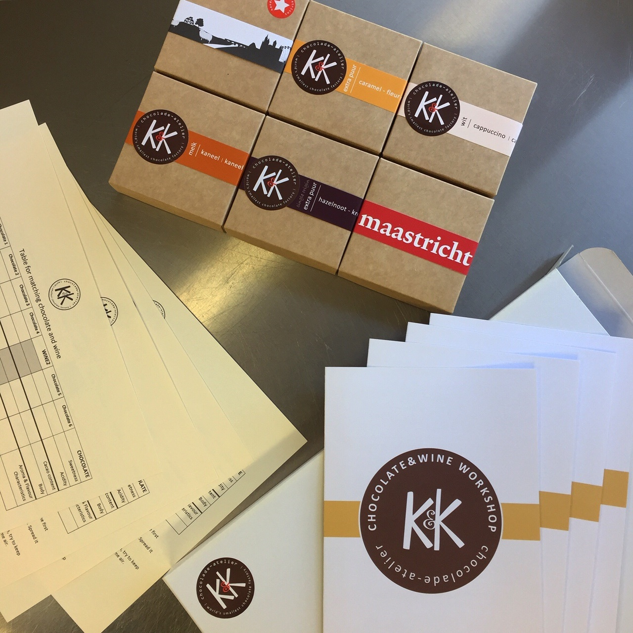 chocolate and wine online workshop material